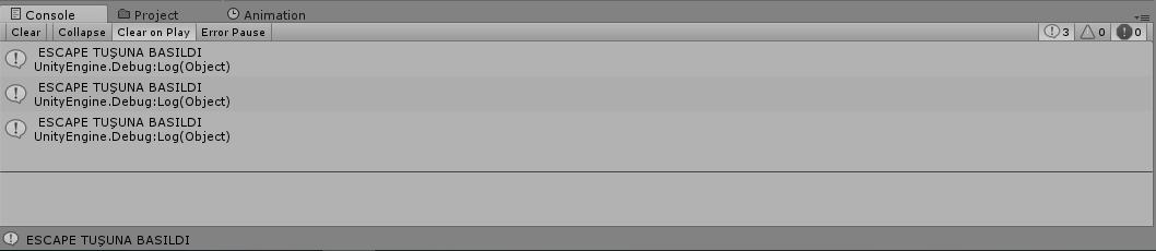 Unity 3D Enis Necipoğlu Input Almak