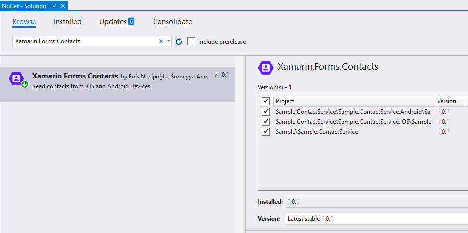 Xamarin Forms Reading Contacts - Enis Necipoğlu