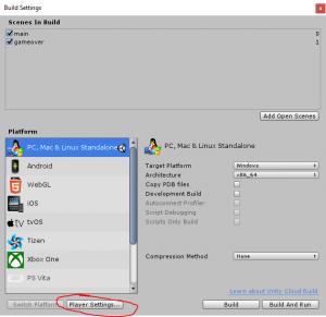 Unity 3D Player Settings Enis Necipoglu using latest .Net Framework Version C#